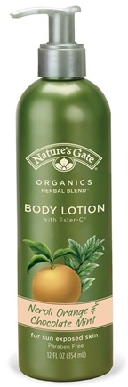 DROPPED: Nature's Gate - Body Lotion Organics with Ester-C Neroli Orange & Chocolate Mint - 12 oz. CLEARANCE PRICED