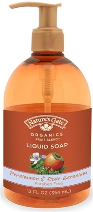 DROPPED: Nature's Gate - Liquid Soap Organics Persimmon & Rose Geranium - 12 oz. CLEARANCE PRICED