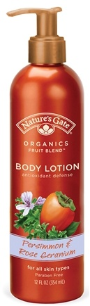 DROPPED: Nature's Gate - Body Lotion Organics Antioxidant Defense Persimmon & Rose Geranium - 12 oz. CLEARANCE PRICED