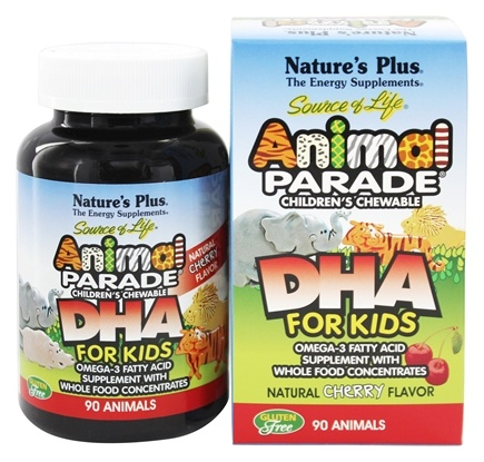 Nature's Plus - Animal Parade Children's DHA Cherry - 90 Chewable Tablets