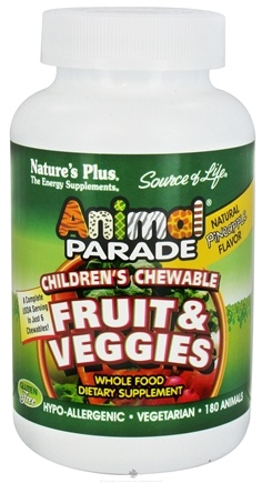 DROPPED: Nature's Plus - Animal Parade Fruits & Veggies Pineapple Flavor - 180 Chewable Tablets