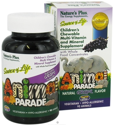 DROPPED: Nature's Plus - Animal Parade Children's Chewable Multi Grape - 90 Chewable Tablets