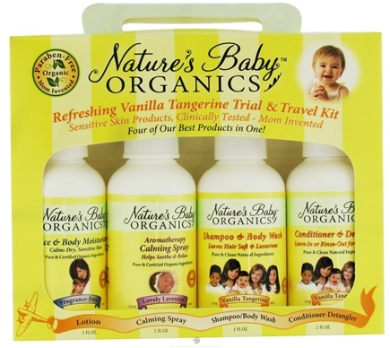 DROPPED: Nature's Baby Organics - Refreshing Trial & Travel Kit Vanilla Tangerine - CLEARANCE PRICED