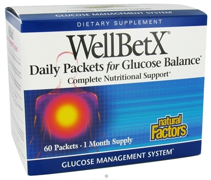 DROPPED: Natural Factors - WellBetX Glucose Management Program - 60 Packet(s)
