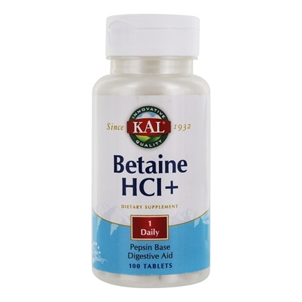 DROPPED: Kal - Betaine HCl - 100 Tablets