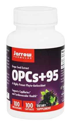 Jarrow Formulas - OPCs+95 Grape Seed Extract 100:1 100 mg. - 100 Capsules