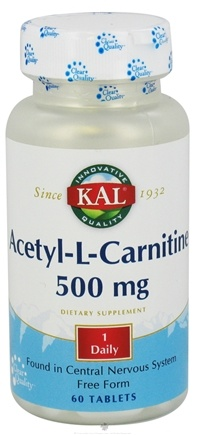 DROPPED: Kal - Acetyl-L-Carnitine - 60 Tablets CLEARANCE PRICED