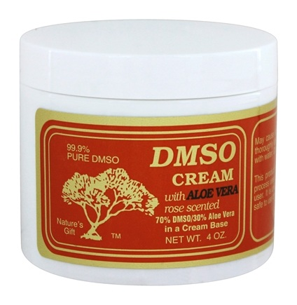 Nature's Gift DMSO - Cream With Aloe Vera Rose Scented - 4 oz.