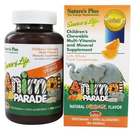 Nature's Plus - Animal Parade Children's Chewable Multi Orange - 180 Chewable Tablets