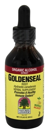 DROPPED: Nature's Answer - Goldenseal Root Organic Alcohol - 2 oz.