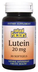 DROPPED: Natural Factors - Lutein 20 mg. - 30 Softgels