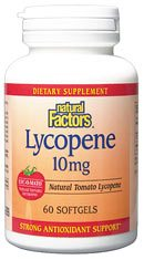 DROPPED: Natural Factors - Lycopene 10 mg. - 60 Softgels