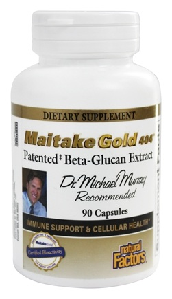 Natural Factors - Dr. Murray's Maitake Gold 404 Patented Beta-Glucan Extract 15 mg. - 90 Capsules