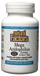 DROPPED: Natural Factors - Mega Acidophilus Powder with FOS Non-Dairy - 2.64 oz.