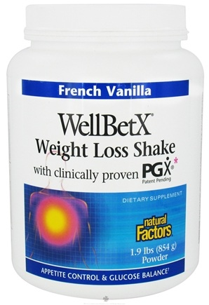 DROPPED: Natural Factors - WellBetX Weight Loss Shake with PGX French Vanilla - 1.9 lbs. CLEARANCE PRICED