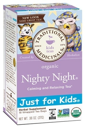 DROPPED: Traditional Medicinals - Just for Kids Organic Nighty Night Tea - 18 Bags CLEARANCED PRICED