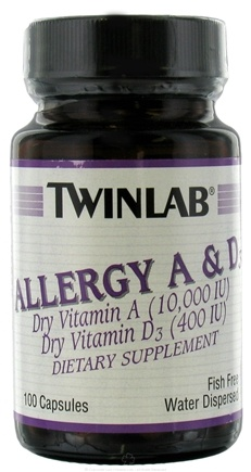 Twinlab - Allergy A & D3 - 100 Capsules
