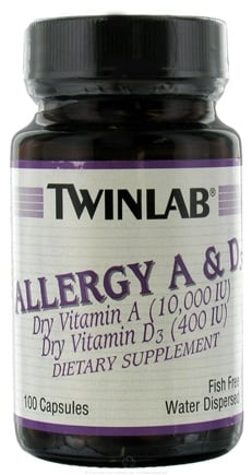 DROPPED: Twinlab - Allergy A & D3 - 100 Capsules
