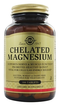 Solgar - Chelated Magnesium - 100 Tablets