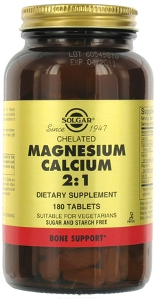 DROPPED: Solgar - Chelated Magnesium Calcium 2:1 - 180 Tablets