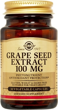 DROPPED: Solgar - Grape Seed Extract 100 mg. - 30 Vegetarian Capsules CLEARANCE PRICED