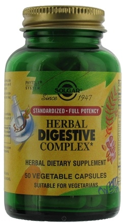 DROPPED: Solgar - Herbal Digestive Complex - 50 Vegetarian Capsules