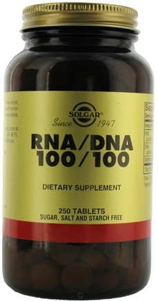 DROPPED: Solgar - RNA/DNA 100/100 Mg - 250 Tablets