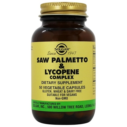 Solgar - Saw Palmetto Pygeum Lycopene Complex - 50 Vegetarian Capsules