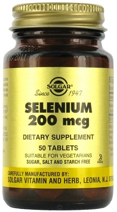 DROPPED: Solgar - Selenium 200 mcg. - 50 Tablets