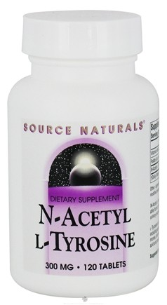 DROPPED: Source Naturals - N-Acetyl L-Tyrosine 300 mg. - 120 Tablets CLEARANCED PRICED