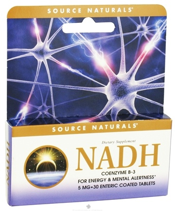 DROPPED: Source Naturals - NADH 5 mg. - 30 Enteric-Coated Tablets CLEARANCE PRICED