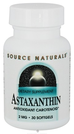 DROPPED: Source Naturals - Astaxanthin 2 mg. - 30 Softgels CLEARANCE PRICED