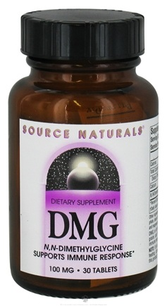 DROPPED: Source Naturals - DMG 100 mg. - 30 Tablets CLEARANCE PRICED