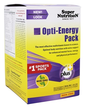 Super Nutrition - Opti-Energy Pack Iron Free - 30 Packet(s)