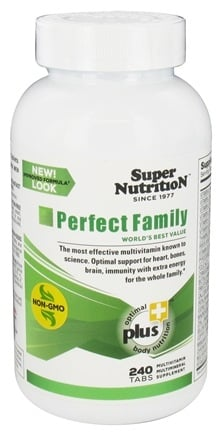 Super Nutrition - Perfect Family - 240 Vegetarian Tablets (formerly Perfect Blend)