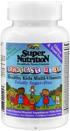 DROPPED: Super Nutrition - Perfect Kids Multi-Vitamin Sugar Free - 240 Tablets