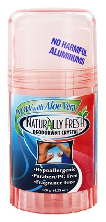 DROPPED: Naturally Fresh - Deodorant Crystal Peach Twist Up Stick with Aloe Vera - 4.25 oz.