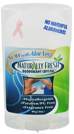 DROPPED: Naturally Fresh - Deodorant Crystal Wide Stick with Aloe Vera - 3 oz. CLEARANCE PRICED