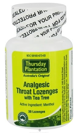 DROPPED: Thursday Plantation - Analgesic Throat Lozenges With Tea Tree - 30 Lozenges