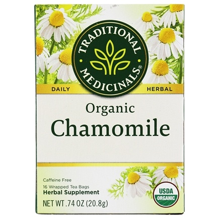 Traditional Medicinals - Organic Chamomile Tea - Herbal Calmative and Digestive - 16 Tea Bags