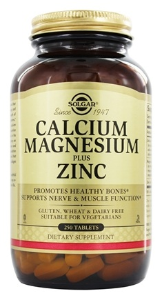 Solgar - Calcium Magnesium Plus Zinc - 250 Tablets