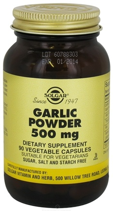 DROPPED: Solgar - Garlic Powder 500 mg. - 90 Vegetarian Capsules CLEARANCE PRICED