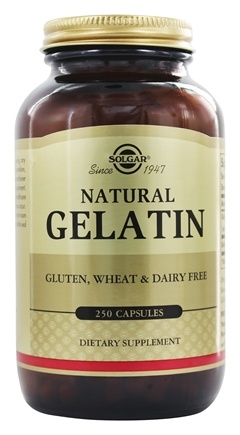 Solgar - Gelatin with Calcium Carbonate - 250 Capsules