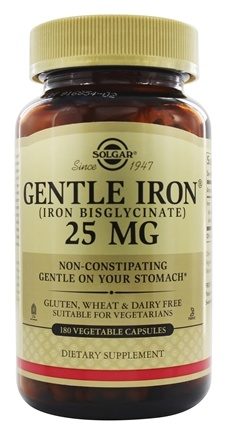 Solgar - Gentle Iron Non-Constipating - 180 Vegetarian Capsules
