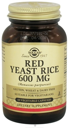 DROPPED: Solgar - Red Yeast Rice Vegetable Capsules 600 mg. - 60 Capsules CLEARANCE PRICED