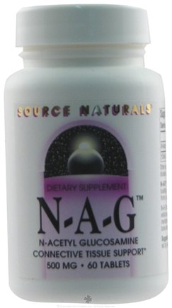 DROPPED: Source Naturals - NAG N-Acetyl Glucosamine 500 mg. - 60 Tablets