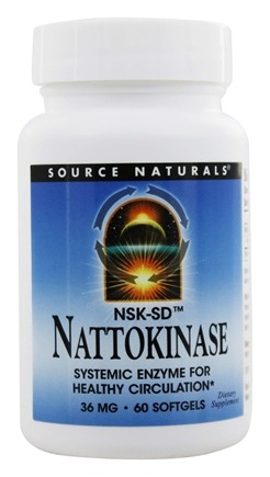 DROPPED: Source Naturals - Nattokinase 36 mg. - 60 Softgels