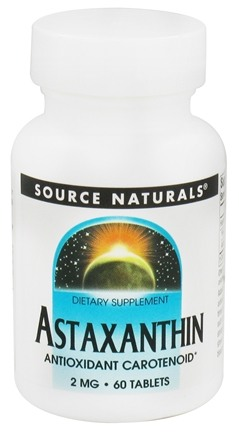DROPPED: Source Naturals - Astaxanthin Antioxidant Carotenoid 2 mg. - 60 Tablets