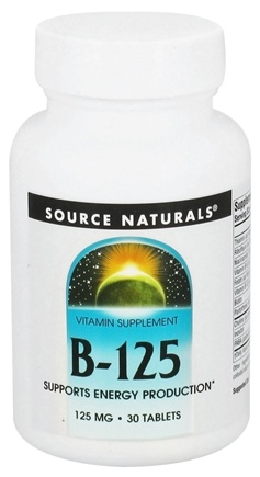 DROPPED: Source Naturals - B-125 - 30 Tablets CLEARANCED PRICED