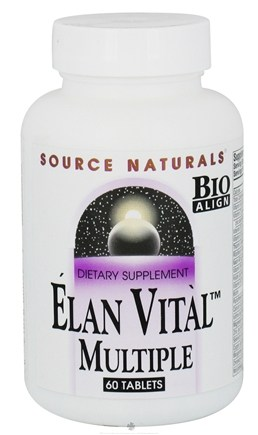 DROPPED: Source Naturals - Elan Vital Multiple - 60 Tablets CLEARANCE PRICED